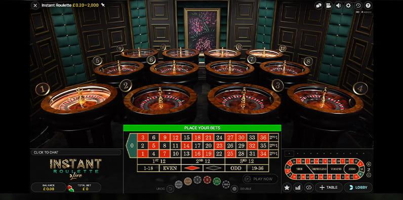 Nikmati tabel Live Roulette Instan dari Evolution Gaming